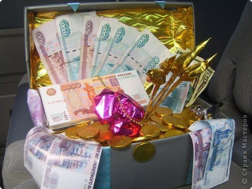 Поздравление для подарка сундука с деньгами